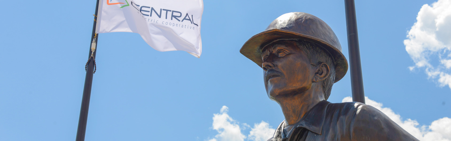 Good Neighbor Lineman statue located at Centrals headquarters
